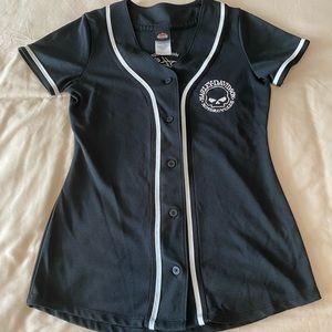 Harley Davidson Button up Baseball Jersey